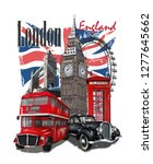 london typography for t shirt... | Shutterstock .eps vector #1277645662