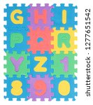 alphabet words and numbers made ...   Shutterstock . vector #1277651542
