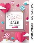 happy valentine s day sale...   Shutterstock .eps vector #1277668192