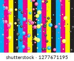 abstract cmyk bubble concept... | Shutterstock .eps vector #1277671195
