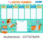 kids weekly planner and to do... | Shutterstock .eps vector #1277676655