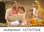 rural indian family using...   Shutterstock . vector #1277677318