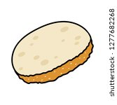 cartoon slice of bread | Shutterstock .eps vector #1277682268