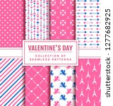valentine's day seamless...   Shutterstock .eps vector #1277682925