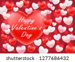 happy valentine day with pink... | Shutterstock .eps vector #1277686432