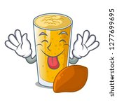 tongue out lassi mango in the... | Shutterstock .eps vector #1277699695