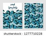 card template vector...   Shutterstock .eps vector #1277710228