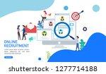 online recruitment or we are... | Shutterstock .eps vector #1277714188