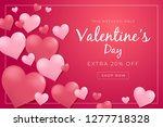 valentines day sale poster with ... | Shutterstock .eps vector #1277718328