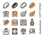 date palm icon set vector and... | Shutterstock .eps vector #1277719765