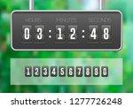 mechanical flip countdown clock ...   Shutterstock .eps vector #1277726248