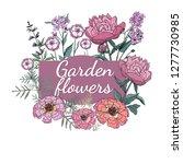 set of the beautiful garden... | Shutterstock .eps vector #1277730985