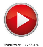 glossy media button play .... | Shutterstock .eps vector #127773176