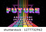 rainbow vector of stylized... | Shutterstock .eps vector #1277732962