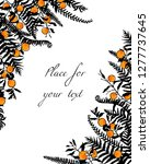vector card with hand drawn... | Shutterstock .eps vector #1277737645