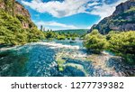 amazing summer view of krka... | Shutterstock . vector #1277739382