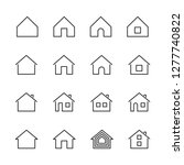 vector set of house line icons. | Shutterstock .eps vector #1277740822