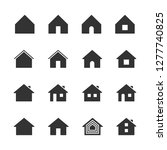 vector set of house icons.   Shutterstock .eps vector #1277740825