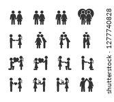 vector set of loving couple... | Shutterstock .eps vector #1277740828