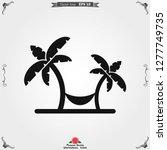 beach icon vector of vacation...   Shutterstock .eps vector #1277749735
