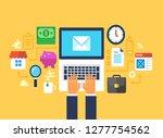 email marketing  newsletter ... | Shutterstock .eps vector #1277754562