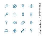 editable 16 caramel icons for...   Shutterstock .eps vector #1277757838