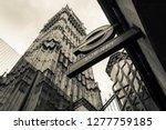 monochrome london. looking up... | Shutterstock . vector #1277759185