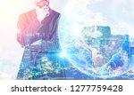 pensive unrecognizable... | Shutterstock . vector #1277759428