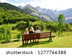 tourist in the pyrenees... | Shutterstock . vector #1277766388