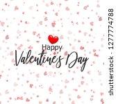 valentines day card. confetti... | Shutterstock . vector #1277774788
