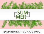 hello summer greeting. tropical ... | Shutterstock . vector #1277774992