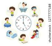 vector illustration of kids... | Shutterstock .eps vector #1277777188