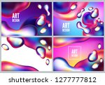 abstract metal elements with an ... | Shutterstock .eps vector #1277777812