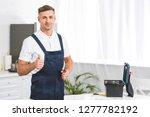 adult repairman holding... | Shutterstock . vector #1277782192