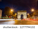 arc de triomphe at night in... | Shutterstock . vector #1277794132