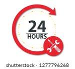 24 hours. label or sticker for... | Shutterstock .eps vector #1277796268