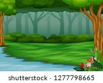 view of the beautiful park by... | Shutterstock . vector #1277798665