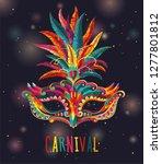 carnival mask. happy carnival... | Shutterstock .eps vector #1277801812