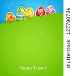 Easter Background And Egg In...
