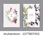 botanical wedding invitation... | Shutterstock .eps vector #1277807452