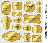 vector gold labels set. easy to ... | Shutterstock .eps vector #127781012
