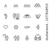 people icons line work group... | Shutterstock .eps vector #1277818915