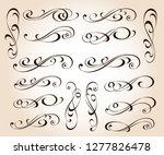 calligraphic elegant elements... | Shutterstock .eps vector #1277826478