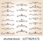 set of retro text dividers and... | Shutterstock .eps vector #1277829172