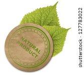 Eco Paper Sticker Isolated Ove...