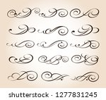 elegant elements of design... | Shutterstock .eps vector #1277831245