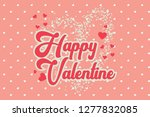 ector valentine's day cards... | Shutterstock .eps vector #1277832085