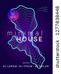 music flyer. commercial... | Shutterstock .eps vector #1277838448