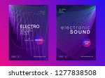 dj flyer. dynamic gradient... | Shutterstock .eps vector #1277838508