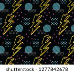 90's style seamless pattern | Shutterstock .eps vector #1277842678